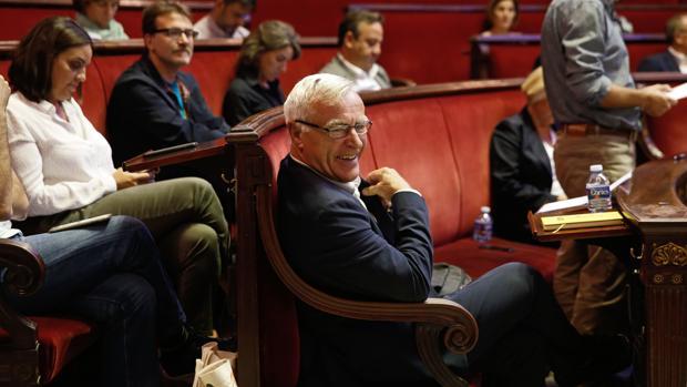 Imagen de Ribó durante el debate sobre el estado de la ciudad de Valencia