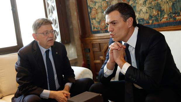 Imagen de Puig y Sánchez tomada el pasado mes de mayo en la Generalitat