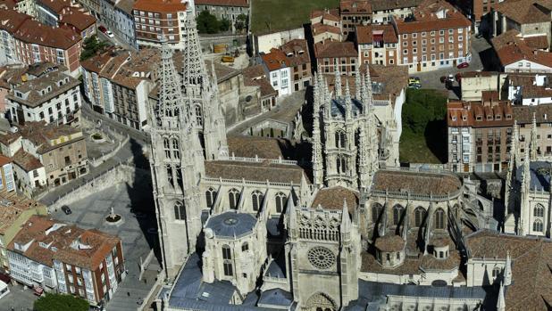 Vista aérea de la Catedral, el monumento más visitado de este verano