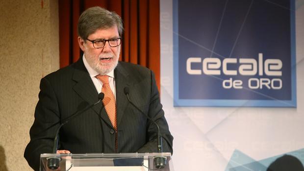 El presidente de Cecale, Santiago Aparicio, en una imagen de archivo