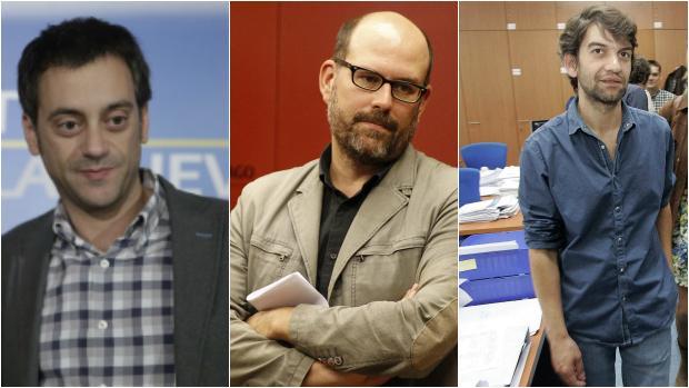 Xulio Ferreiro, Martiño Noriega y Jorge Suárez
