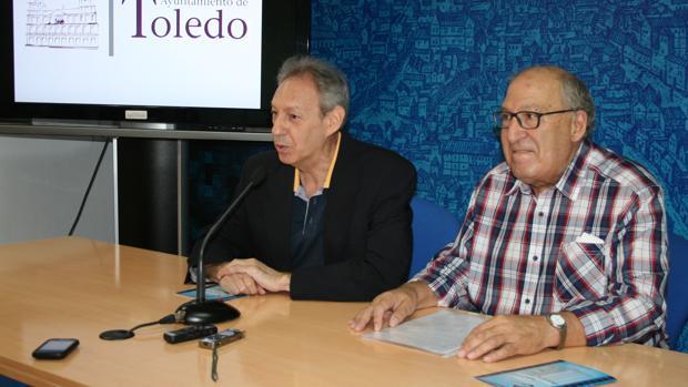 José María Cabezas y Felipe Hernández Ponos en la presentación de la programación del Cineclub