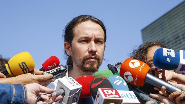 Pablo Iglesias el pasado sábado en San Sebastián