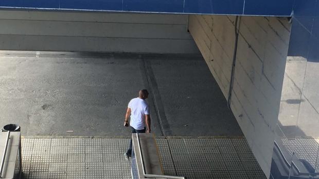 Miguel Ángel Flores, el empresario juzgado por el Madrid Arena, en una imagen de este verano en Chamartín