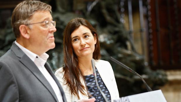 Carmen Montón y Ximo Puig, en una imagen de archivo