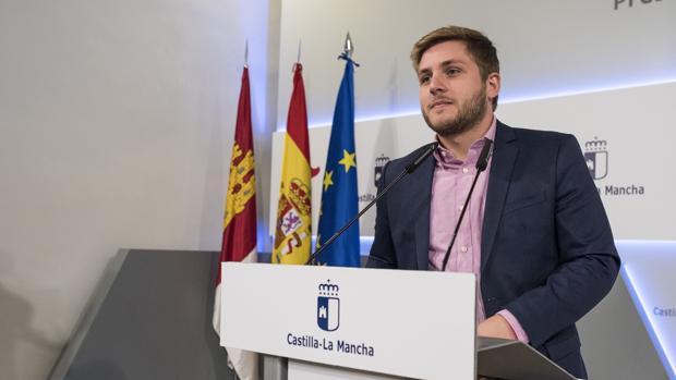 Nacho Hernando durante su comparecencia esta mañana en el Palacio de Fuensalida
