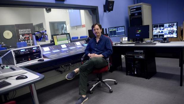 Estudio de Radio Municipal M21, gestionada por el Ayuntamiento de Madrid