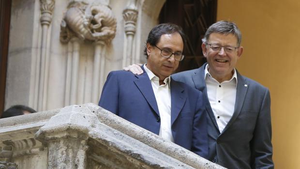 Vicent Soler y Ximo Puig, en un imagen de archivo