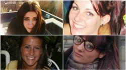 Las cuatro víctimas mortales de la tragedia: Cristina, Rocío, Katia y Belén