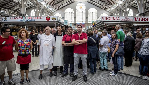 Imagen de la protesta del Mercado Central de Valencia
