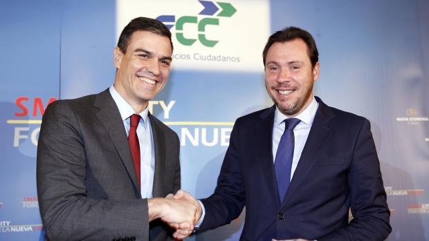 Óscar Puente y Pedro Sánchez en una imagen de archivo