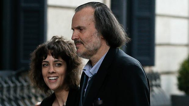 Alexandra Fernández junto al también diputado de En Marea Miguel Anxo Fernán Vello
