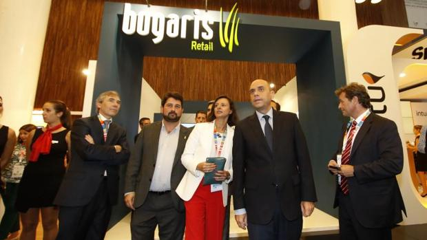 Visita instituacional a la inauguración del congreso nacional de los centros comerciales en Alicante