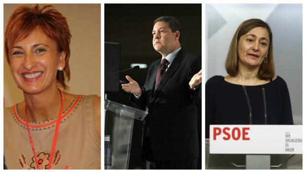 Manuela Galiano, García-Page y Mari Luz Rodríguez