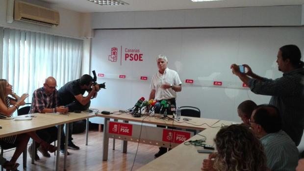 José Miguel Pérez, este viernes, en la capital grancanaria