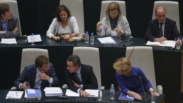 El grupo popular en el Pleno de esta mañana