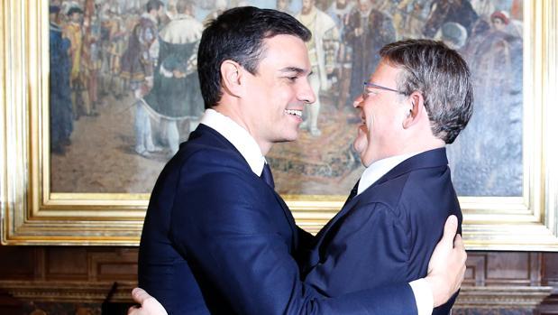Ximo Puig y Pedro Sánchez, en Valencia en una imagen de archivo