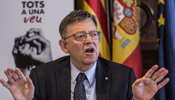 Ximo Puig, este jueves en el Palau de la Generalitat