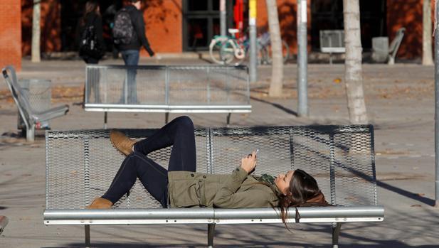 Imagen de unos universitarios tomada en Valencia