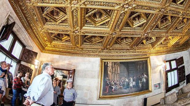 Imagen de una jornada de puertas abiertas en el Palau de la Generalitat