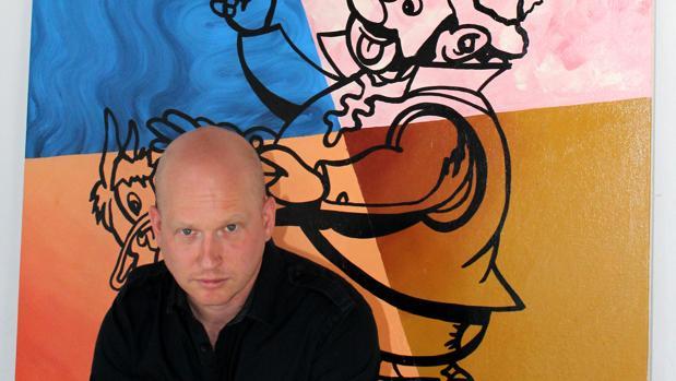 El artista Riiko Sakkinen, en su estudio en Cervera de los Montes (Toledo)