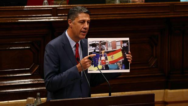 Albiol, durante su intervención en el Parlament