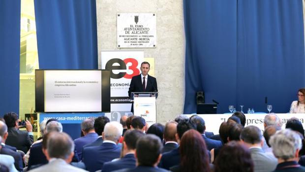 César Sánchez, anfitrión del Tercer Foro Empresarial de la Diputación de Alicante