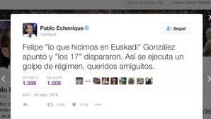 Echenique compara a Pedro Sánchez con las víctimas de los GAL