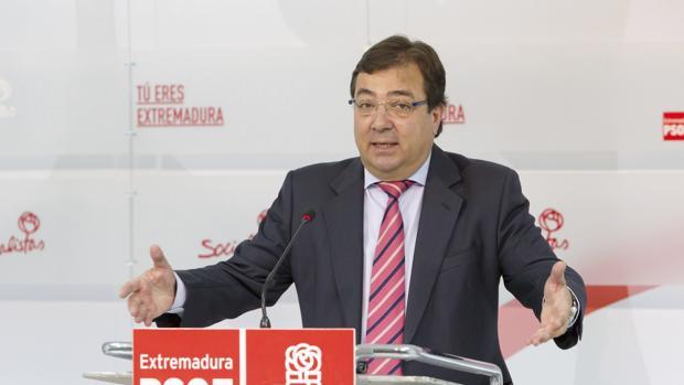 Guillermo Fernández Vara, uno de los barones más críticos con Pedro Sánchez