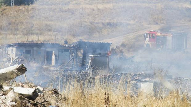 Incendio en el poblado burgalés «El Encuentro»
