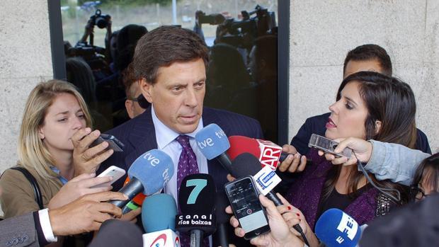 Juan Carlos Quer en una de sus comparecencias ante los medios de comunicación
