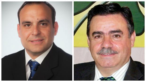 Francisco José García (izquierda), el próximo alcalde de Colmenar y Antonio Ortiz, el edil que apoyará al PP