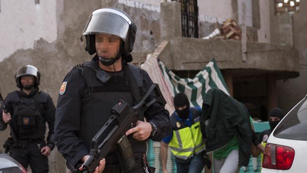 Parte de la operación se realizó ayer en Melilla
