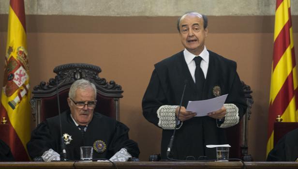 El presidente del Tribunal Superior de Justicia de Cataluña, Jesús María Barrientos
