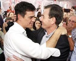 Pedro Sánchez y Tomás Gómez. Antes «amigos», ahora «enemigos»