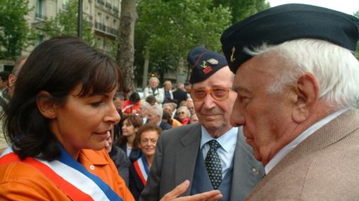Dos veteranos de «La Nueve» en un homenaje en Francia con Anne Hidalgo