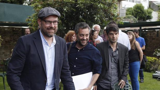 Los alcaldes de Santiago, La Coruña y Ferrol, Noriega, Ferreiro y Sánchez