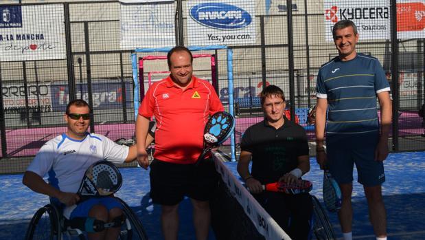 Álvaro Gutiérrez, en el torneo inclusivo de pádel de Ice Racket y Aspaym