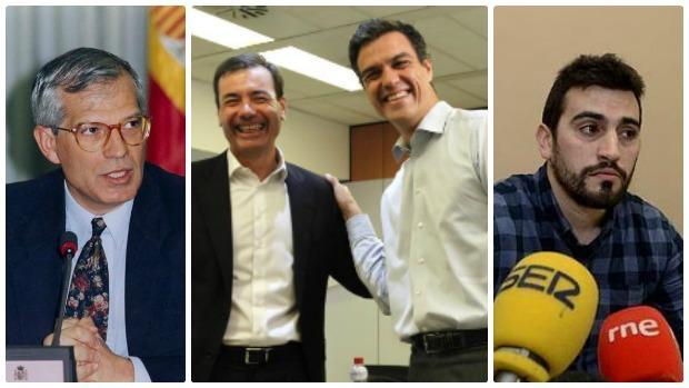Primarias fallidas. Candidatos elegidos por la militancia que fueron desechados por el partido. De izquierda a derecha: Josep Borrell, Tomás Gómez junto a Pedro Sánchez y Lois Breogán Riobóo