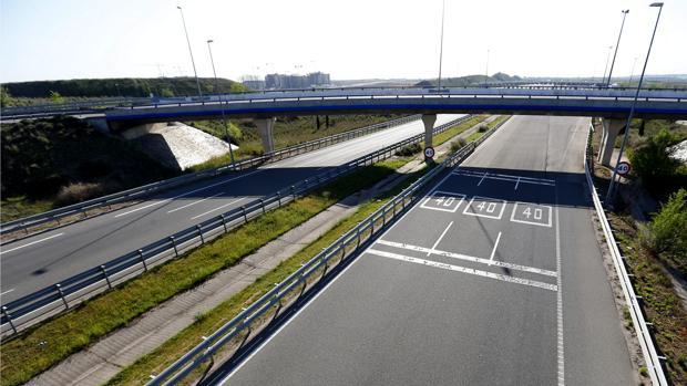 Un tramo de una de las autopistas madrileñas