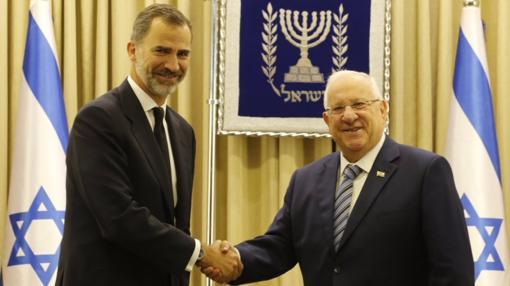 El Rey Felipe VI y el presidente de Israel, Reuven Rivlin