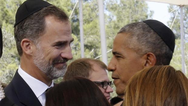 Saludo entre el Rey y Obama