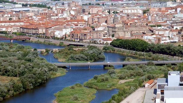Vista panorámica de Talavera de la Reina desde el mirador del puente de Castilla-La Mancha