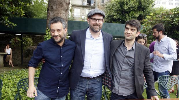 Ferreiro, Noriega y Suárez en un acto en Santiago de Compostela