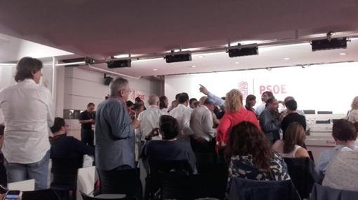 Vista interior del Comité Federal del PSOE