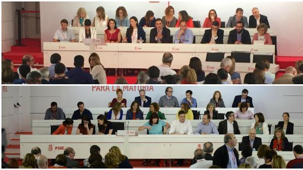El antes y después de la fractura del PSOE en una foto