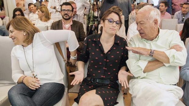 Isabel Bonig, Andrea Levy y José Manuel García Margallo, este sábado en Denia