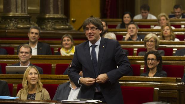 Puigdemont, durante la pasada cuestión de confianza