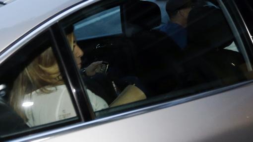 Susana Díaz, a su llegada