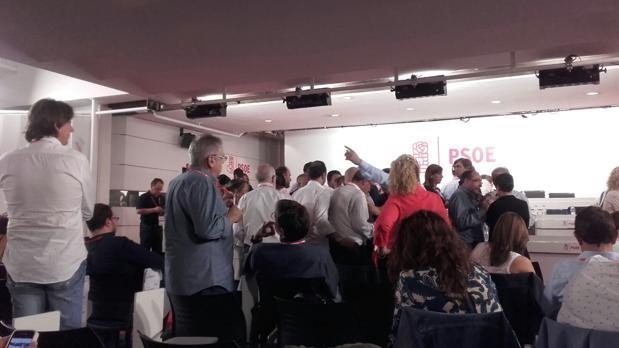 Vista de la reunión del Comité Federal del PSOE